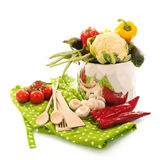 Cooking with vegetables Royalty Free Stock Photo