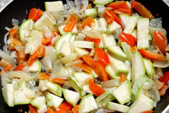 Cooking vegetables for stew Royalty Free Stock Photo