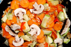 Cooking vegetables for stew Royalty Free Stock Photography