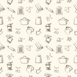 Cooking vintage background Stock Photos