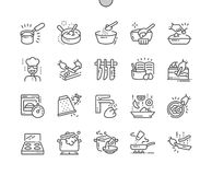 Cooking Well-crafted Pixel Perfect Vector Thin Line Icons 30 2x Grid for Web Graphics and Apps. Simple Minimal Pictogram Stock Photo
