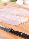 Cooking white fish fillet Stock Image