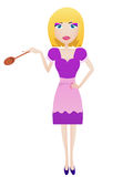 Cooking woman Royalty Free Stock Photography
