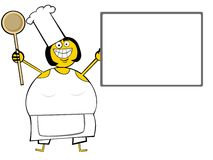 Cooking Woman with menu Stock Images