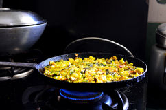 Cooking yellow vegetables Stock Photo