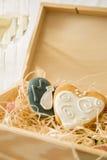 Cookings de mariage des jeunes mariés Photos stock