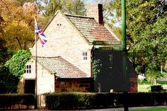 Cooks' Cottage. Captain James Cooks' cottage in Fitzroy Gardens: Melbourne, Australia royalty free stock photo
