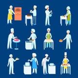 Cooks Flat Icon Set Royalty Free Stock Photos