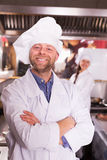 Cooks greeting customers at bistro Royalty Free Stock Photo