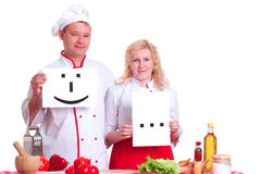 Cooks keep the signs Stock Photo