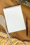 Cooks Notepad - Space for Text Stock Images