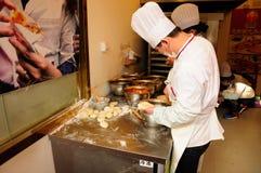 Cooks preparing Nanjing Snack Stock Photo