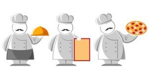 Cooks set. Three cooks  isolated on white Royalty Free Stock Photo