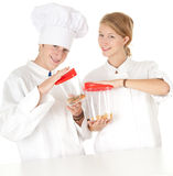 Cooks team, series Royalty Free Stock Photos