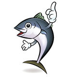 Cooks Tuna mascot the direction of pointing with both hands Stock Photo