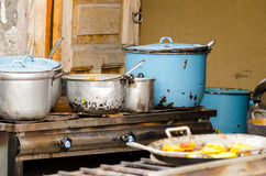 Cookshop. On a market in Southamerica Stock Images