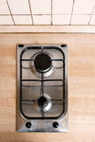 Cooktop gas burner top view Royalty Free Stock Photos