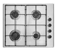 Cooktop. Light gray cooking panel on a white background Stock Image