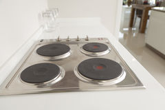 Cooktop stove in modern pantry. Nduction cooktop stove in modern pantry stock image