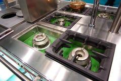 Cooktops de la cocina Imagen de archivo libre de regalías