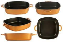 Cookware, αντικολλητική πανοραμική λήψη στοκ εικόνα