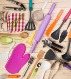 Cookware and accessories Royalty Free Stock Photos
