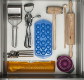 Cookware. In the clean drawer stock image