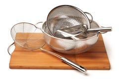 Cookware de aço inoxidável Foto de Stock Royalty Free