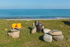 Cookware de acampamento Fotos de Stock