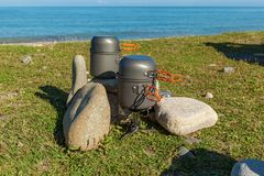 Cookware de acampamento Foto de Stock Royalty Free