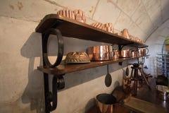 Cookware de cobre imagen de archivo libre de regalías