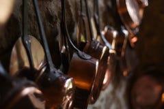 Cookware de cobre Imagem de Stock