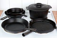Cookware de fonte Photos stock