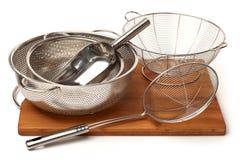 Cookware del acero inoxidable Fotografía de archivo