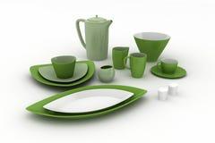 Cookware di ceramica Fotografia Stock