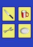 Cookware do ícone Foto de Stock