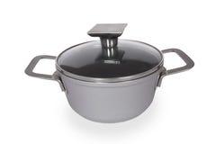 Cookware do aço inoxidável Imagens de Stock Royalty Free
