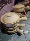 Cookware fait d'argile Photo libre de droits