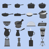 Cookware Icons Set Royalty Free Stock Photos