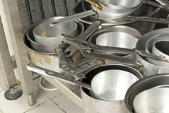 cookware in a kitchen restaurants royalty free stock photos