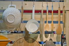 Cookware. In the Kitchen room stock image