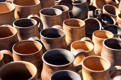 Cookware made of clay Stock Photography