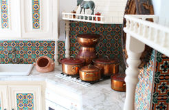 Cookware in an old house In tunisia Royalty Free Stock Photo