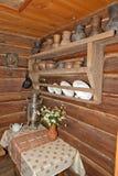Cookware in Russisch huis Stock Afbeeldingen