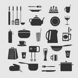 Cookware set of objects Royalty Free Stock Images