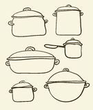 Cookware set Royalty Free Stock Images