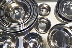 Cookware of stainless steel Royalty Free Stock Photos