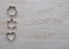 Cooky cutters background Stock Images