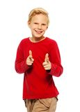 Cool 11 years old boy Royalty Free Stock Photography