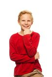 Cool 11 years old boy Stock Photos